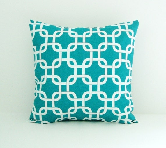 turquoise pillow cover decorative pillow cover by