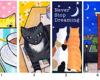 Kitty bookmarks - You Pick 5