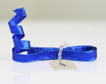 "Clearance! 3/8"" Royal Blue Metallic Wired-Edge Ribbon 3 yards"