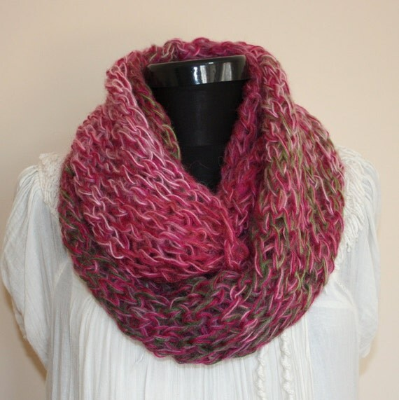 10 Percent OFF with Coupon Code -Multicolor Angora Mohair Blend Loop SCARF- Ready to Ship