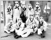 """Star Wars Navy - Vader's First Crew - Digital Art Print 8.5"""" X 11"""" ( Star Wars art print / Star Wars , Stormtrooper, Darth Vader print )"""