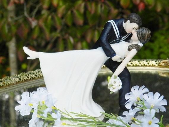 wedding cake toppers military navy usn navy sailor groom dip wedding 26540