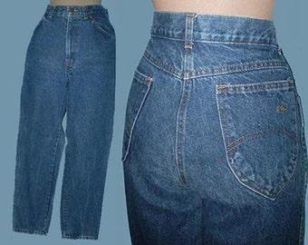 Vintage 80s Chic Blue Denim Jeans 31 1/2 High Waist