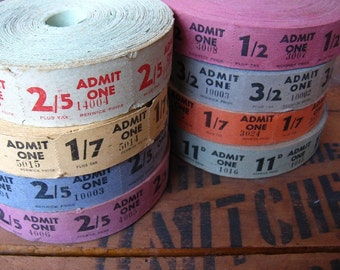 vintage tickets - 40 - theatre tickets - cinema