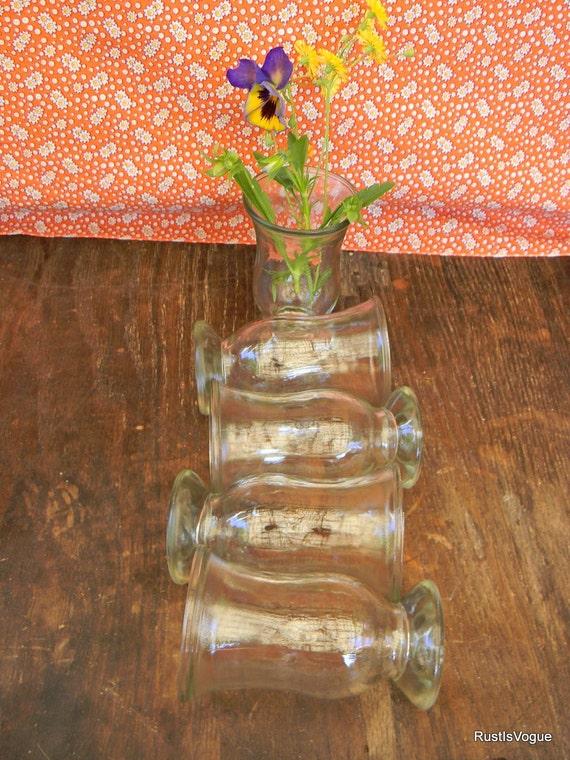 vintage shrimp cocktail glasses set of 5. Black Bedroom Furniture Sets. Home Design Ideas