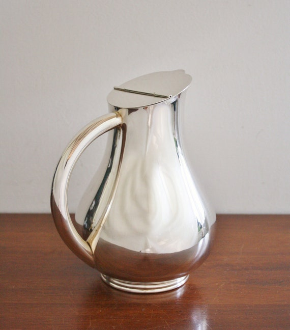 Vintage silver plated water pitcher, Italy