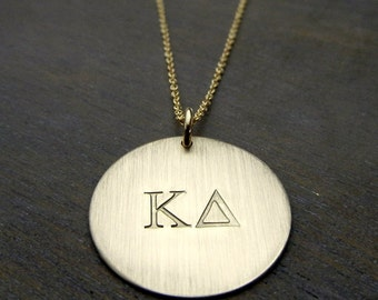 Kappa Delta Necklace | Gold Filled Sorority Charm | OFFICIALLY LICENSED Jewelry by E. Ria Designs