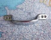 SALE! Large vintage silvertone heavy metal pull handle