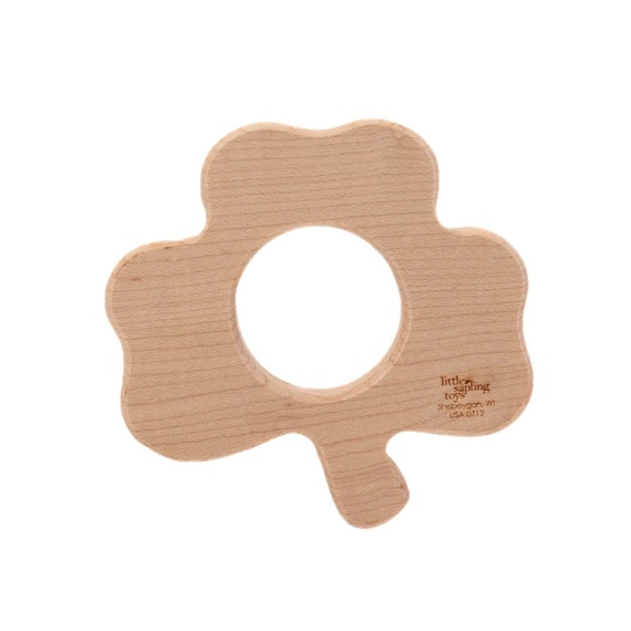 Baby Toy Clover Shamrock wooden teether wooden toy