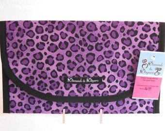 Leopard Print Diaper and Wipes Case Holder Clutch