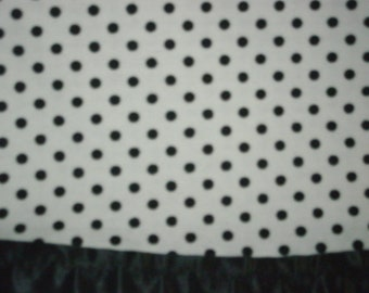 Flannel White with Black Polka Dots Pillowcase