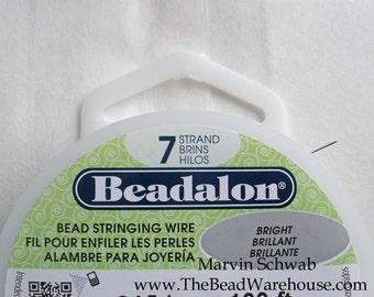 Beadalon 7 Strand Beading Wire .018 100' Craft Spool