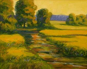 Oil Painting Original WATER'S EDGE 16x20 Landscape