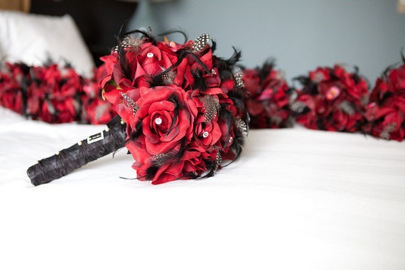 RUSH ORDER Reserved For vickersk1 ABLAZE Wedding Bouquet