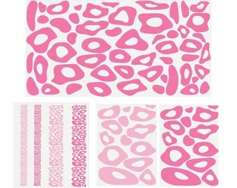 Pink Leopard Print Background