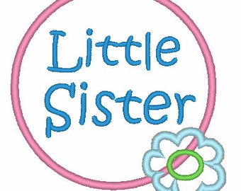 Little Sister Applique Design 003