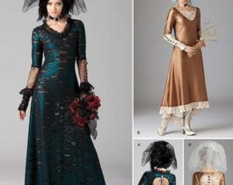 Steampunk Dress & Veil Pattern Simplicity 1772