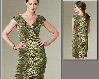 Vogue 1206 Kay Unger Dress Pattern Size 14-20 Sheath Dress