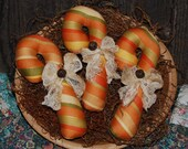 Autumn Candy Cane Tucks Fall Ornies Halloween Bowl Fillers