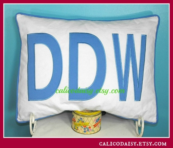 JUMBO Applique Monogram Standard Pillow Sham - 20 x 26
