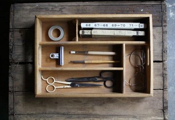 divided wood box