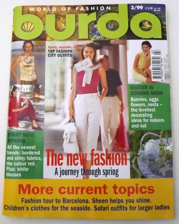 Burda Style Sewing Pattern Magazine 03/1999 Edition English