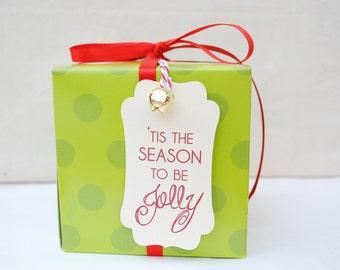 Christmas Gift Tags Tis the Season- Set of 6