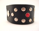 Upcycled Cuff Bracelet from Studded Belt