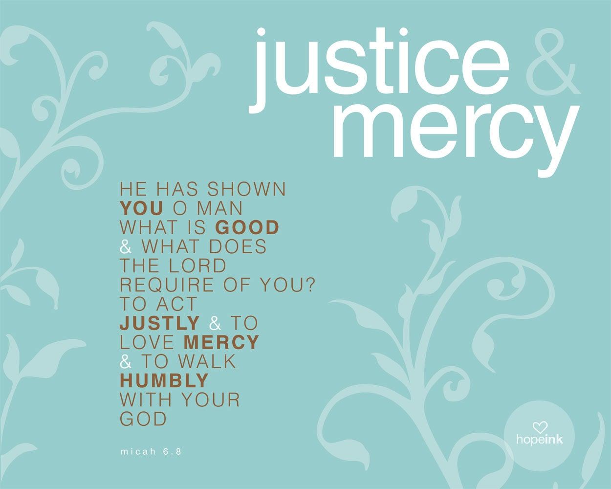 Justice And Mercy Quotes: Unavailable Listing On Etsy