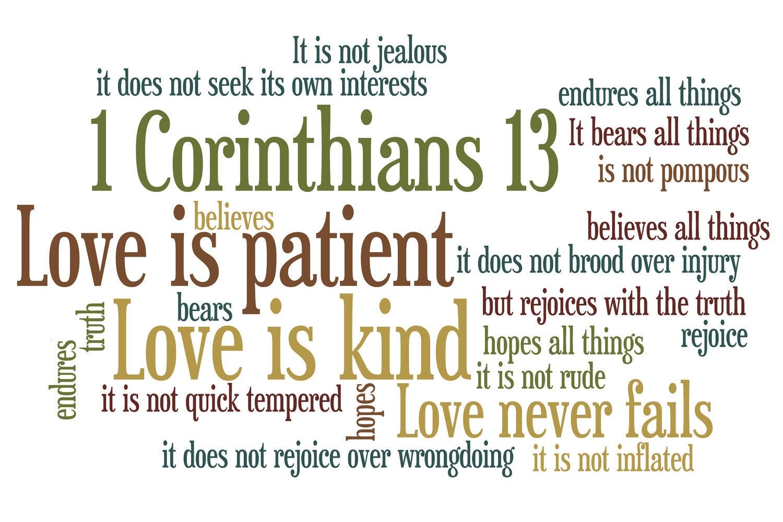 Wedding Reading Love Is Patient: Items Similar To Corinthians Bible Scripture Word Art Love