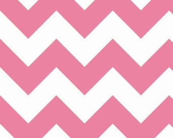 CLEARANCE!!  Riley Blake Designs, Large Chevron in Hot Pink (C330 70) - 1 yard