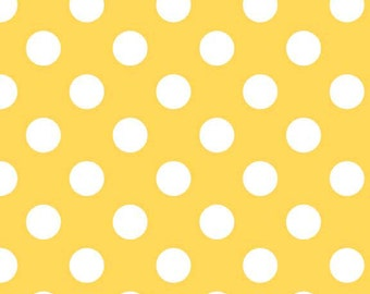 Riley Blake Designs, Medium Dots in Yellow (C360 50)