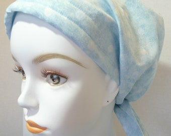 Fun Poka Dot Loss Cancer Hat Chemo Scarf Cap Head Wrap Alopecia Turban Headcovering Bad Hair Day