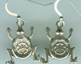 Sterling Silver SOUTHWEST FROGS Earrings -Totem