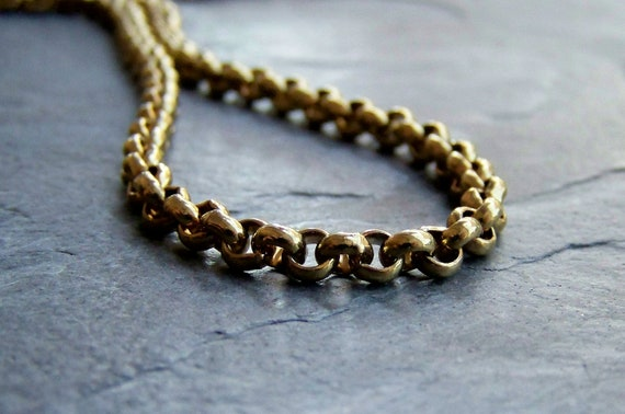 Reserved Listing for Colin-Vintage Gold Plated Solid Brass Rolo Chain-4 Feet