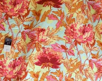 Amy Butler RAB03 Soul Blossoms Twilight Peony Saffron Rayon Fabric 1 Yard