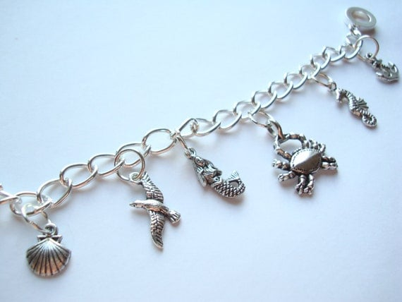 mermaid ariel the sea charm bracelet by