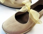 Size UK 5, LUNA Handmade shoes, Pebble leather 2206 by Fairysteps