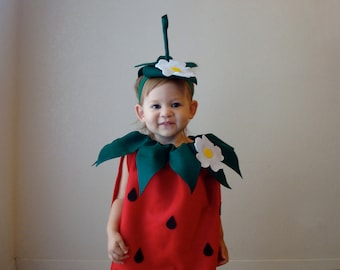 kids strawberry costume halloween costume childrens girls costume photo prop purim