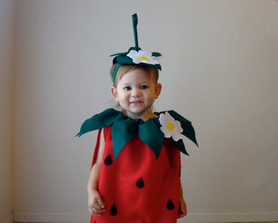 Kids Strawberry Costume Halloween Costume Childrens Girls