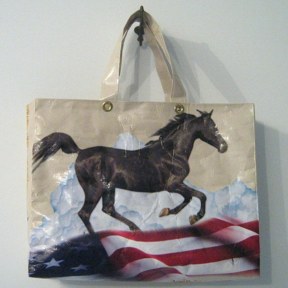 Recycled Horse Feed Tote : Beige