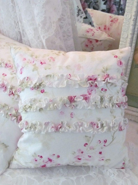 Treasury Item Shabby Chic Ruffle Pillow Rachel Ashwell