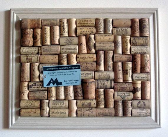 Wine Cork Board - 12x15 w/ Ivory Frame