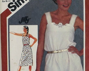 Vintage 80's Sewing Pattern, Romper and Sundress, Size 12