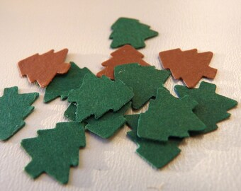 Christmas tree green or brown confetti (set of 50)