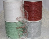 CLEARANCE - Curly Ribbon - Metallic/Sparkling - 5 Yard Bundle - Available in 4 Colors