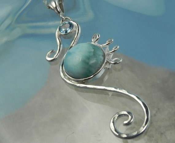 Seahorse Necklace Seahorse Larimar Pendant By Fantaseajewelry. Million Dollar Wedding Rings. Black Diamond Jewelry. Simple Design Necklace. Where Can I Buy Anklets