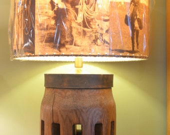 16 x 16 Cowboy, Cowgirl Drum Lamp Shade, Western Decor