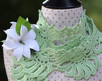 CROCHET PATTERN Gardenia Crocheted Scarf ebook Pdf Sizes Kids to Adult Pattern with Instant Download