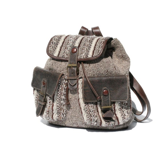Wool & Leather Italian Back Pack